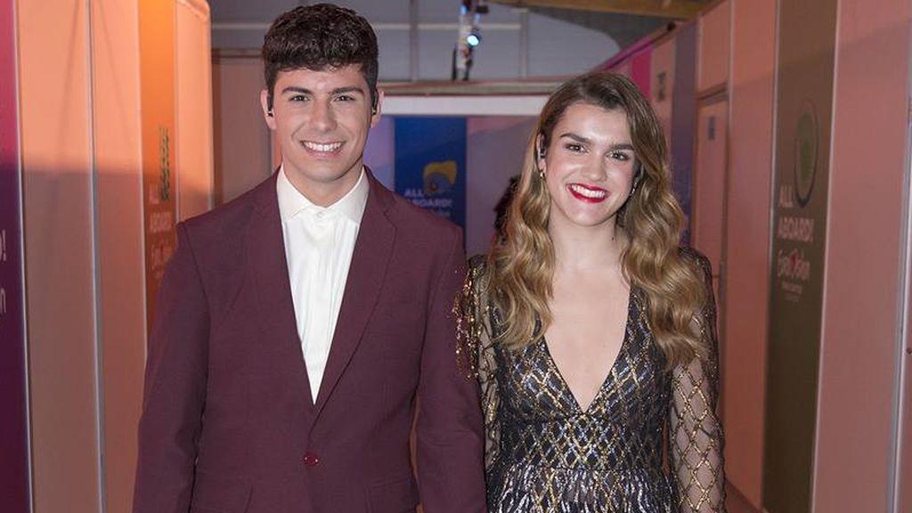 Alfred y Amaia, antes del último ensayo de la primera semifinal de Eurovisión 2018.