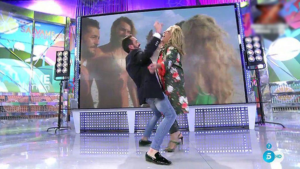Lydia Lozano y J.M. se vienen arriba bailando el 'chuminero'