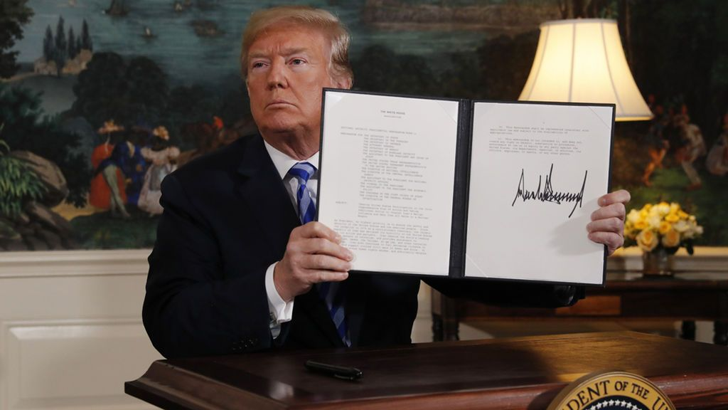 Trump anuncia que EEUU se retira del acuerdo nuclear con Irán