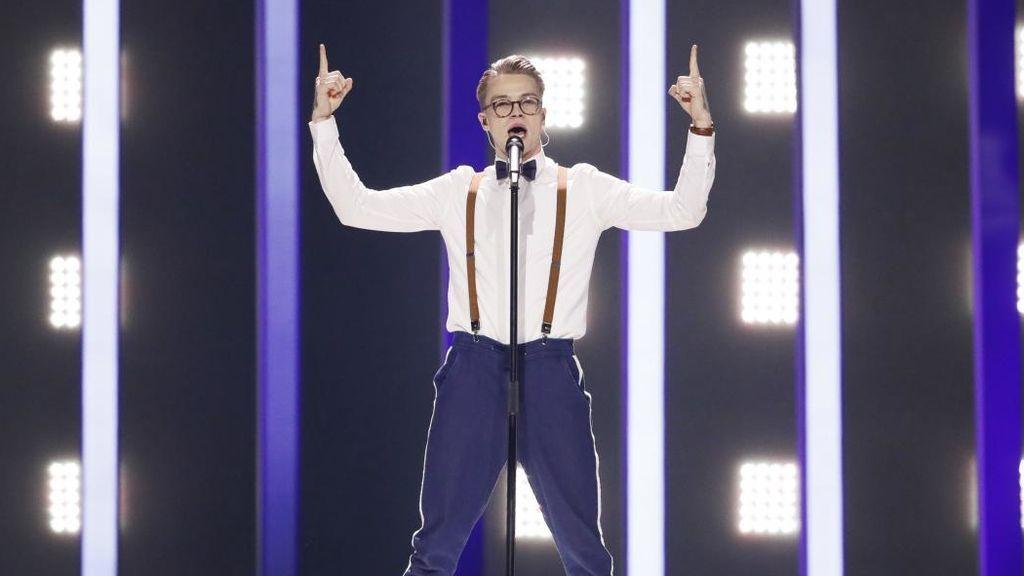 Actuación del representante de República Checa, durante la primera semifinal de Eurovisión 2018.