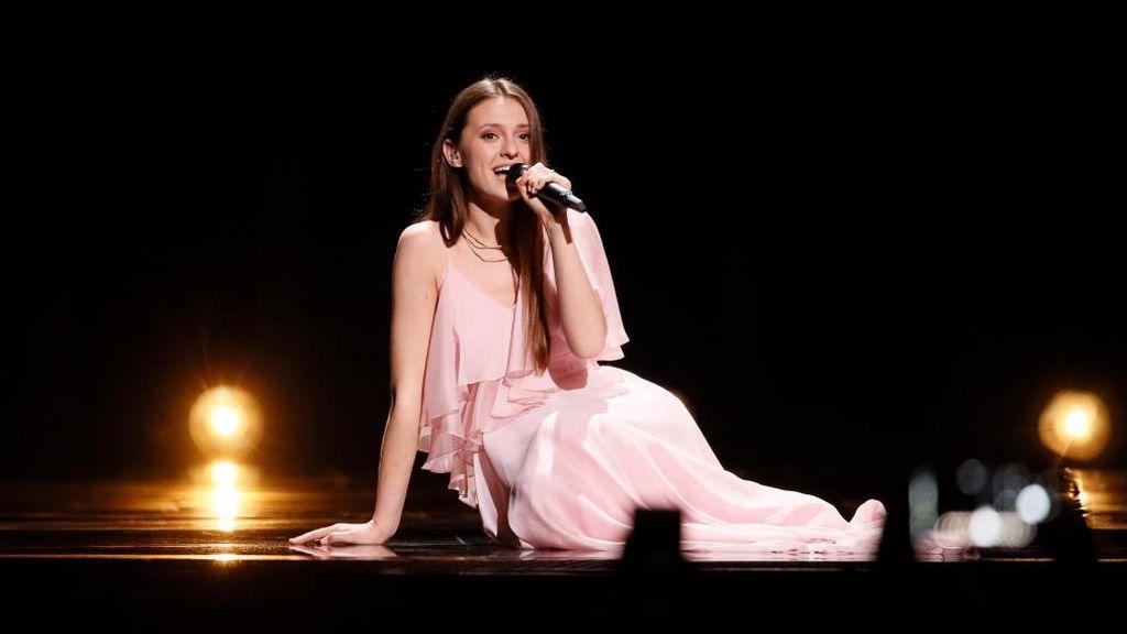 Actuación de la representante de Lituania, durante la primera semifinal de Eurovisión 2018.