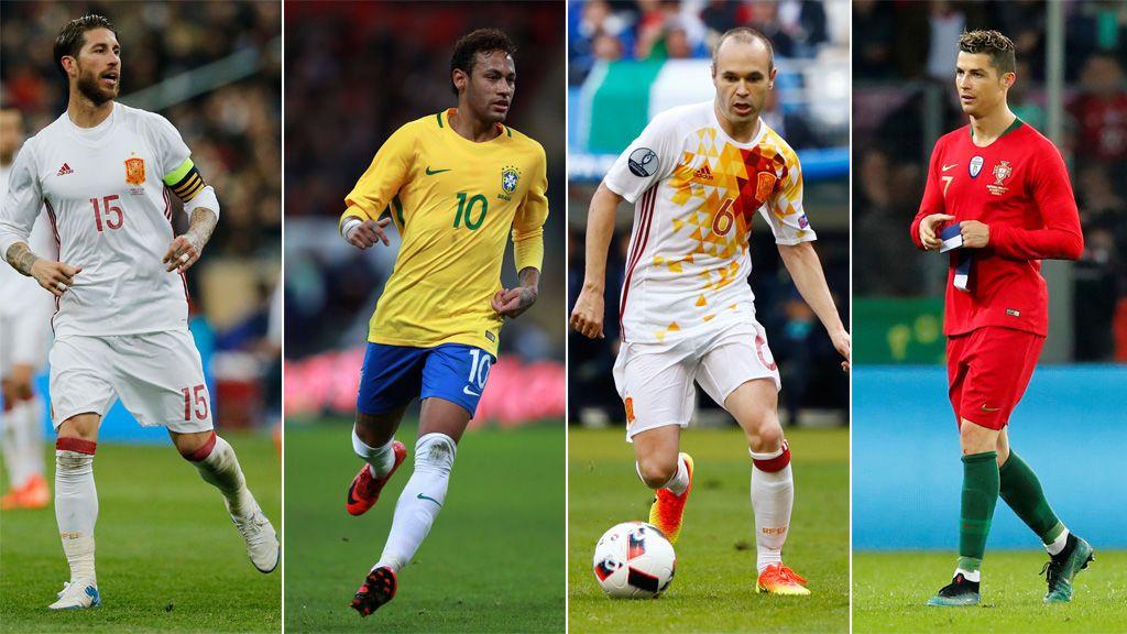 Cristiano, Neymar, Iniesta y Ramos podrán personalizar sus botas con el escudo de su país en el Mundial