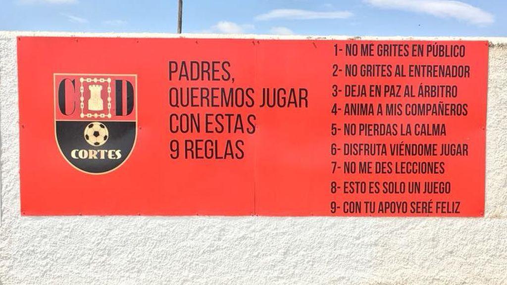Las nueve reglas dirigidas a padres que presiden el campo de un equipo de fútbol de Navarra