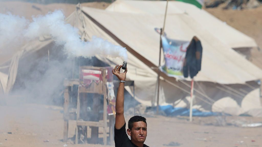 Ataque con gas lacrimógeno entre israelíes y palestinos