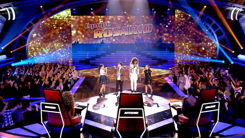 Rosana deslumbra en el escenario de 'La Voz Kids' junto a los finalistas del equipo de Rosario