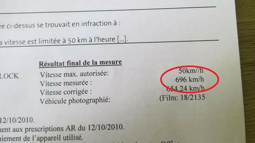 Multan a un conductor en Bélgica por conducir a 696 km/h