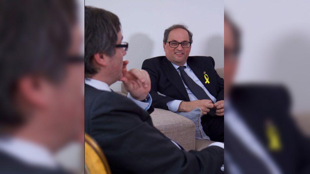 Torra acepta el encargo pero afirma que el presidente legítimo es Puigdemont