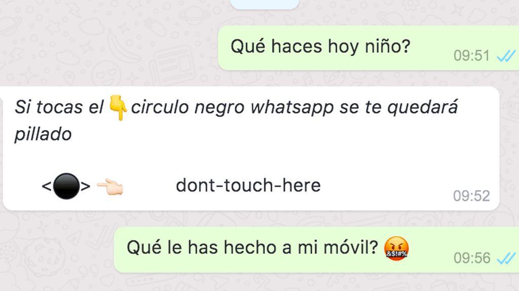 Cuidado con el 'círculo negro': la 'maldición viral' de WhatsApp llega a Instagram