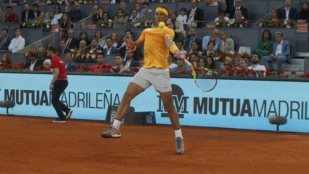 Madridistas y atléticos, unidos por Rafa Nadal: así acudieron juntos al partido de tenis
