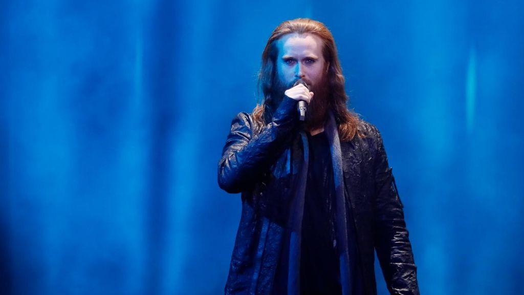 Dinamarca en la segunda semifinal de Eurovisión 2018.