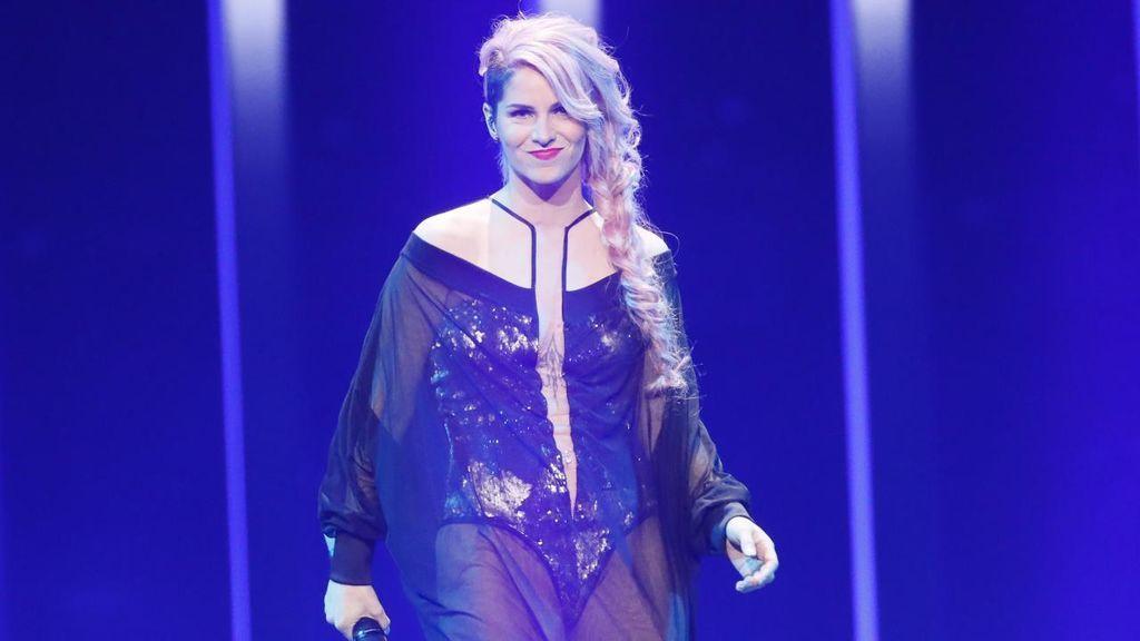 Eslovenia en la segunda semifinal de Eurovisión 2018.