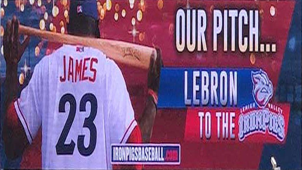 La oferta de un equipo de béisbol a Lebron James para que iguale a Michael Jordan