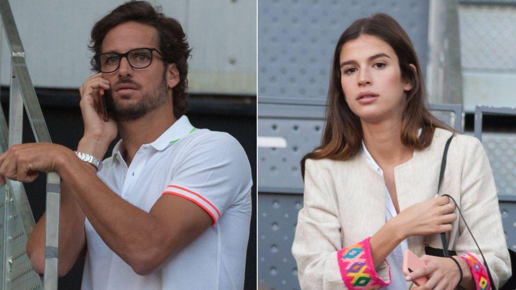 Feliciano y Sandra Gago, juntos y sin complejos: sus fotos muy acaramelados en las gradas del tenis