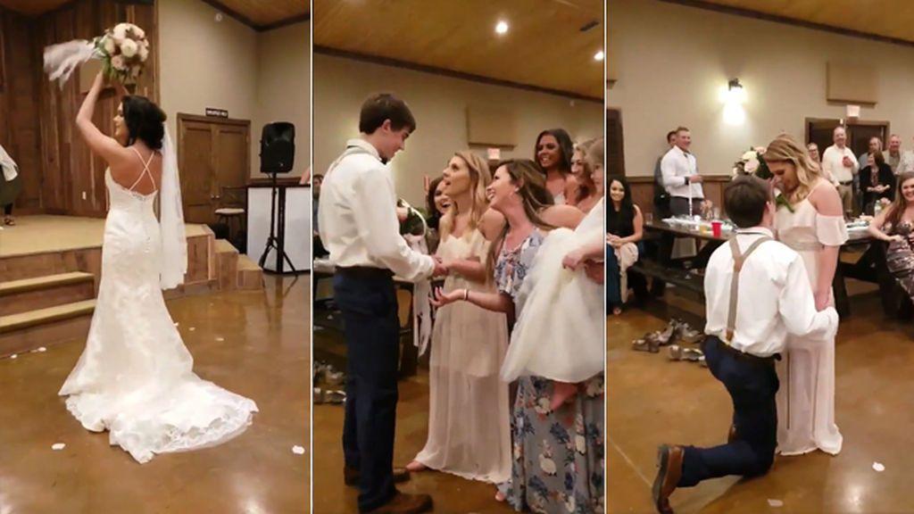 Propone matrimonio a su novia en plena celebración de la boda de su hermana