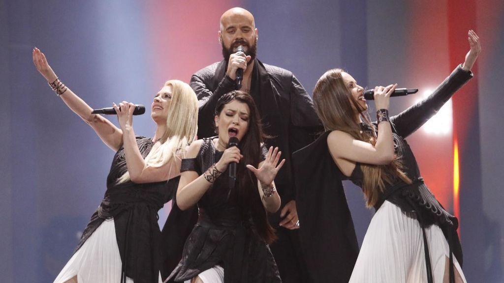 Serbia en la segunda semifinal de Eurovisión 2018.