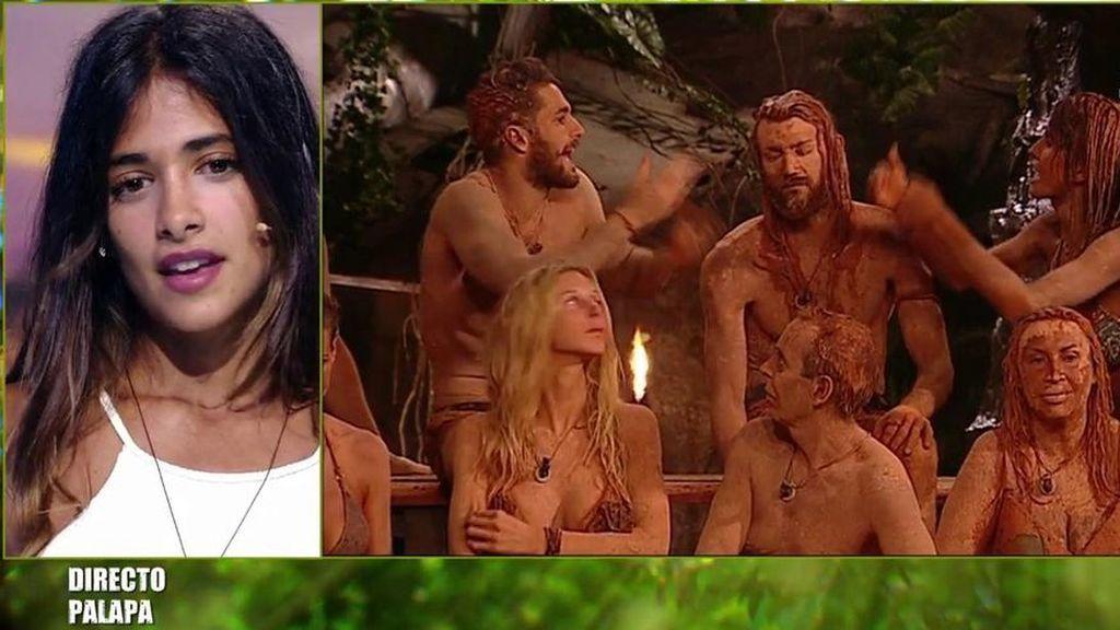 Sofía confirma parte de la teoría de Melissa, Hugo lo niega y se lía en la Palapa