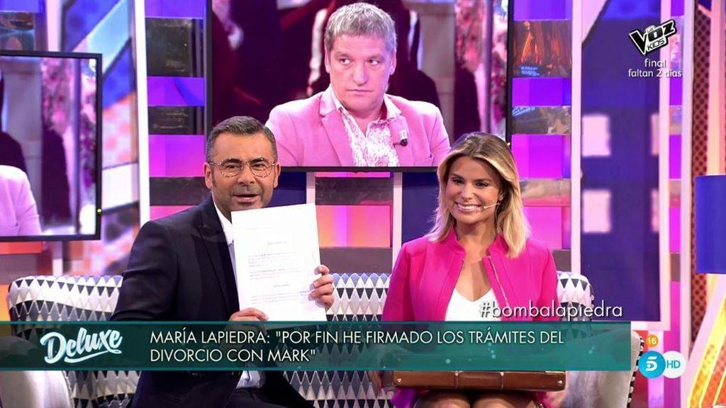 """¡BOMBA! María Lapiedra por fin lo confirma: """"Ya tengo firmado el convenio de divorcio"""""""