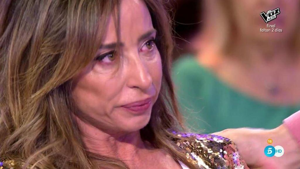 María Patiño se derrumba tras la fuerte discusión con Gustavo y Jorge