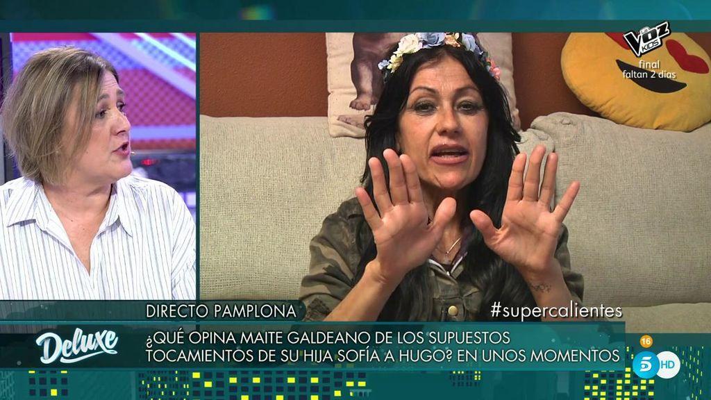 """Maite Galdeano se disculpa  con la madre de Hugo: """"Las madres no tenemos culpa de lo que hagan los hijos"""""""