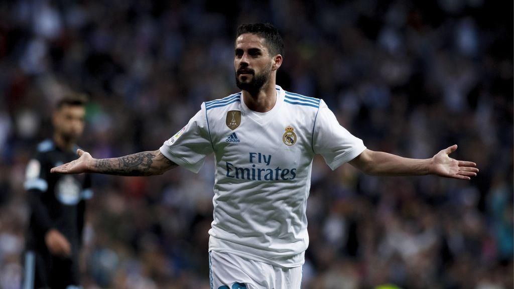 El Real Madrid se da un atracón de goles frente al Celta (6-0)