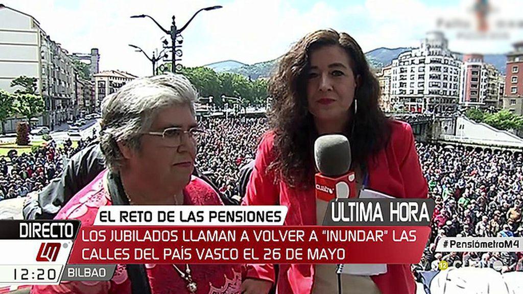 Antonia lleva 17 lunes consecutivos alzando su voz por las pensiones