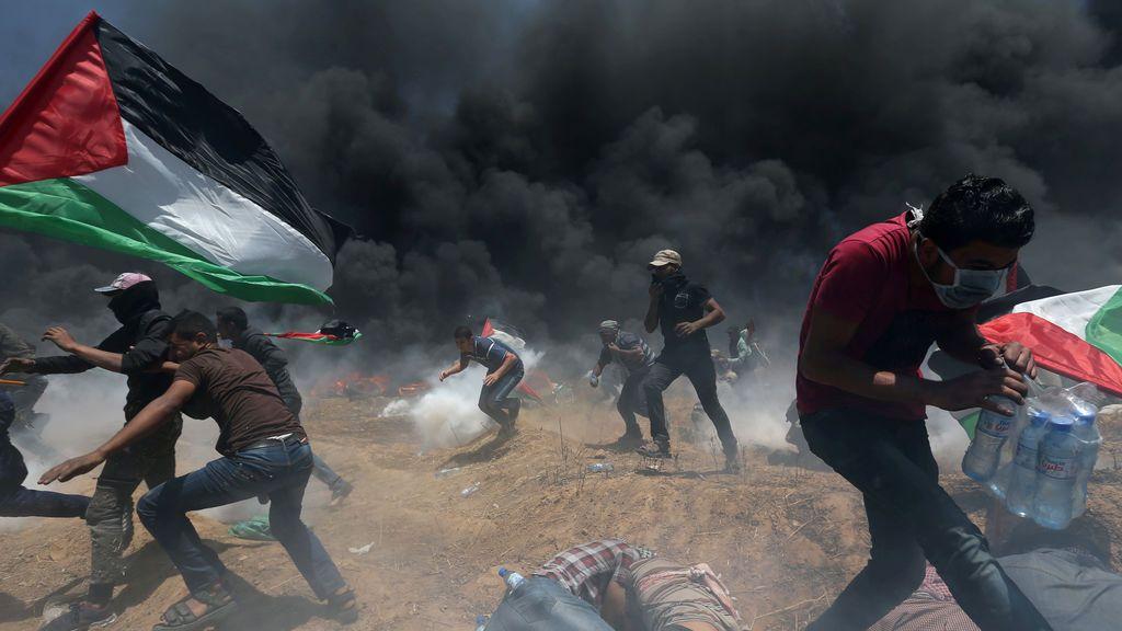 Tensión entre manifestantes palestinos e israelíes