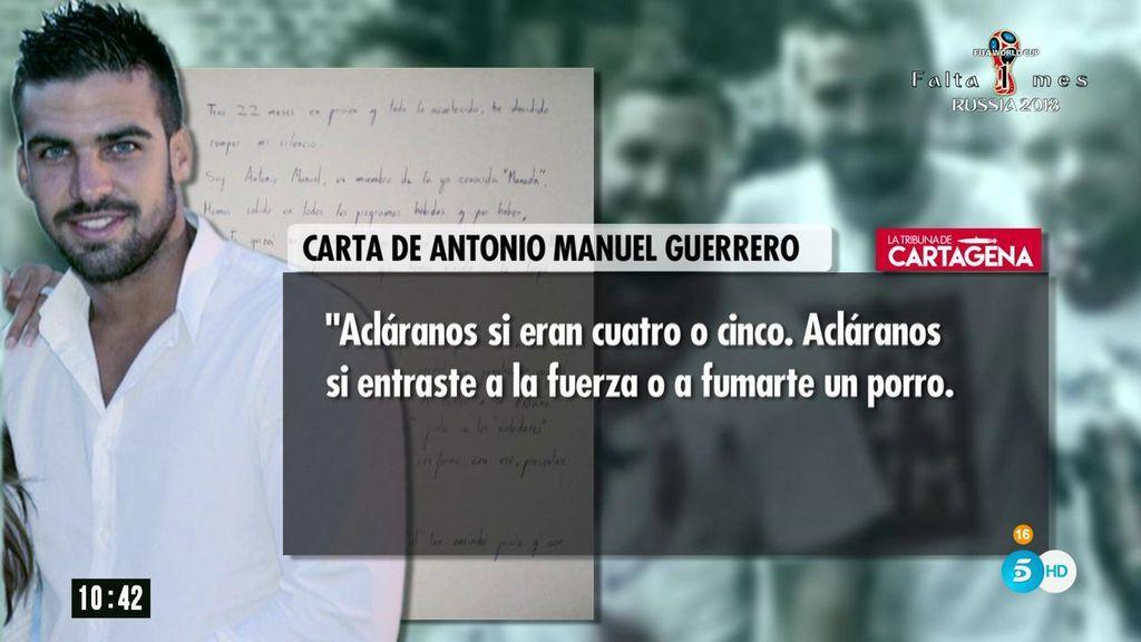 La polémica carta del Guardia Civil de \'La Manada\': \