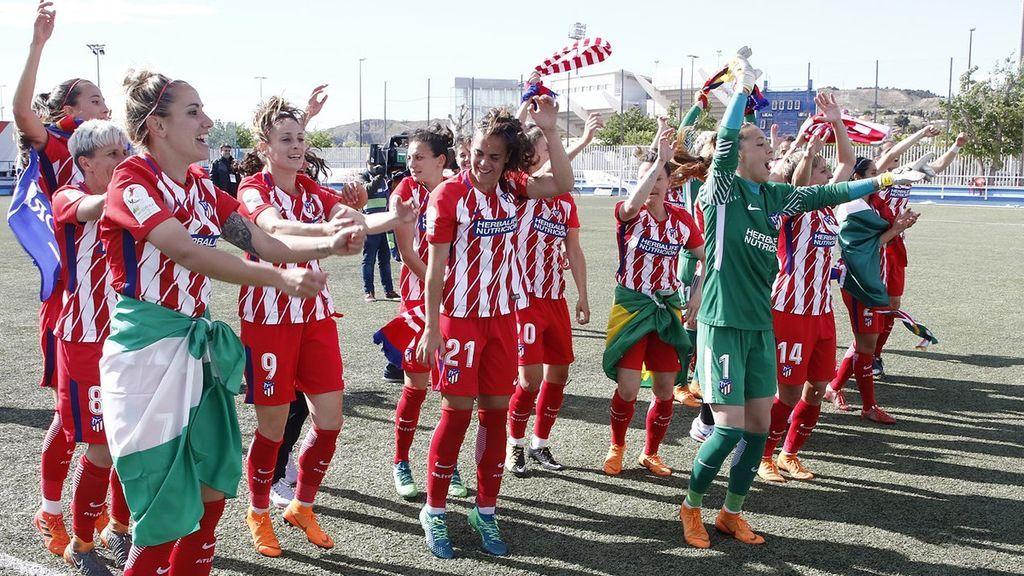 """""""A seguir cumpliendo sueños"""": Euforia entre el Atleti femenino al ganar su segunda Liga consecutiva"""