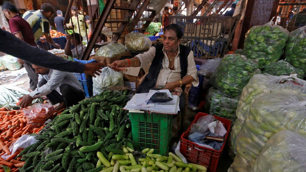Mercado tradicional de la India