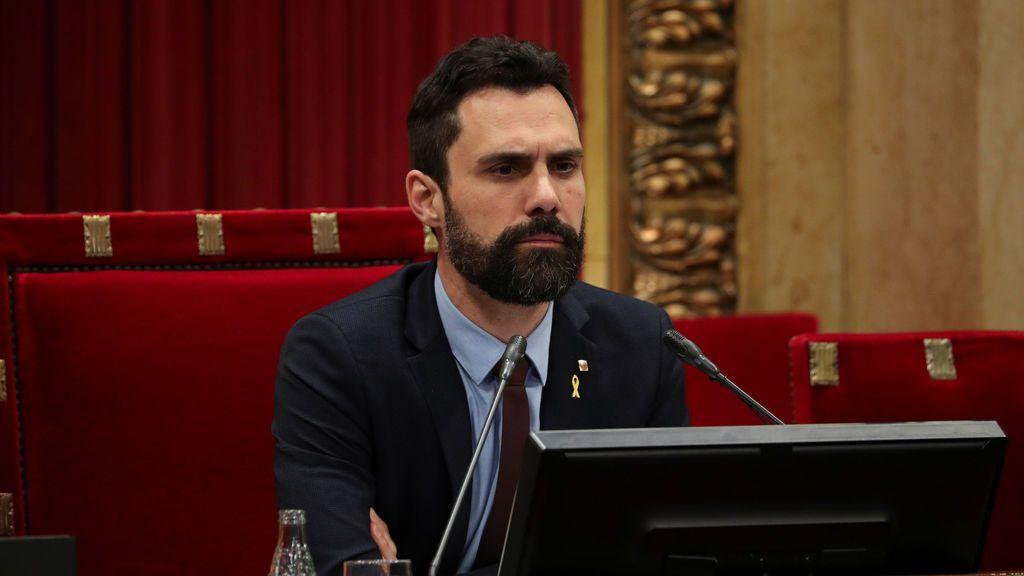 Torrent comunica por escrito a la Zarzuela la investidura de Quim Torra