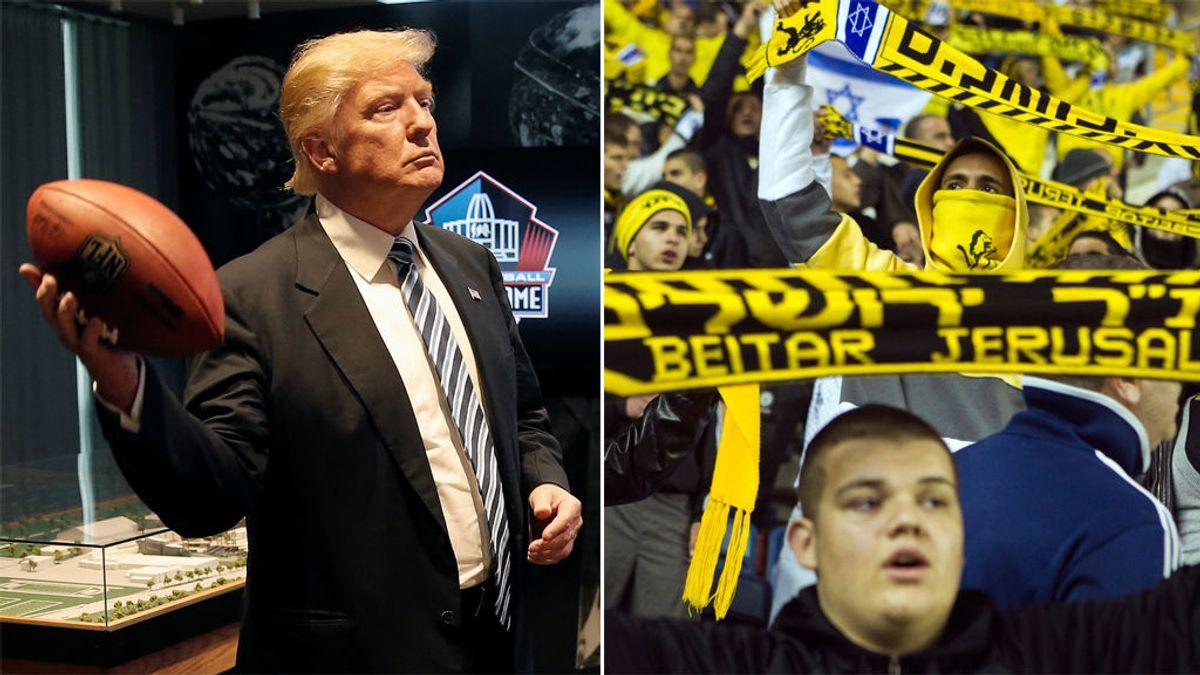 Un equipo de fútbol israelí cambia su nombre por el de Beitar Trump Jerusalén para homenajear a Donald Trump