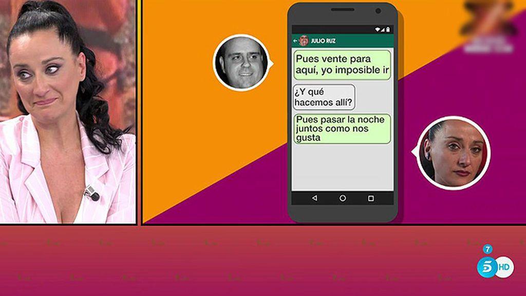 Las pruebas de Marián contra Julio Ruz: unos comprometidos mensajes