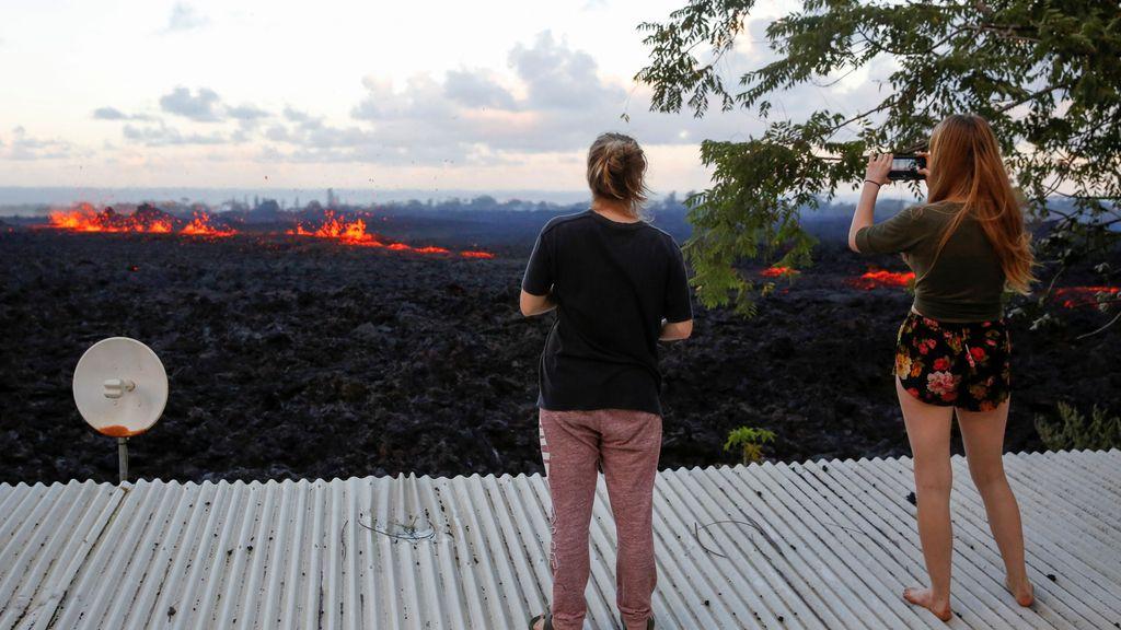 La lava del Kilauea desde casa