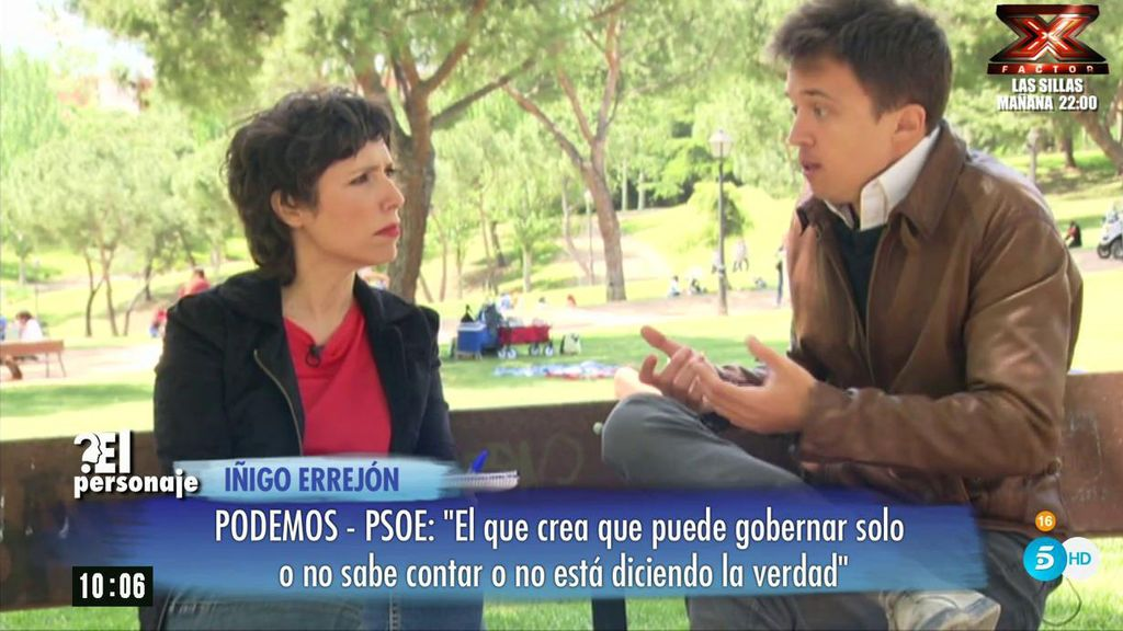 """Errejón: """"Pablo sabe que no me quiero quedar con su silla"""""""