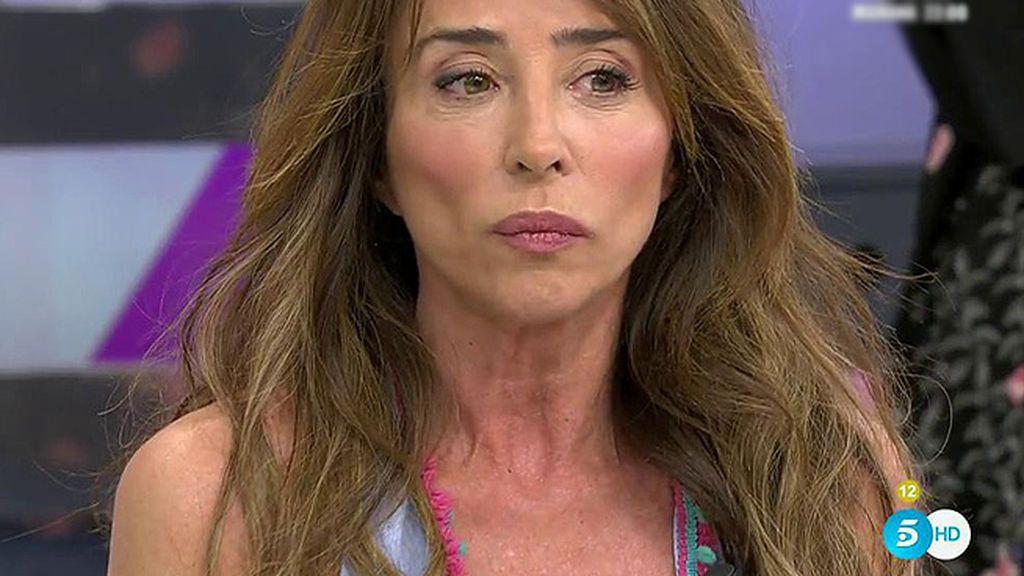 """María Patiño: """"Entiendo el enfado de Jorge Javier Vázquez"""""""