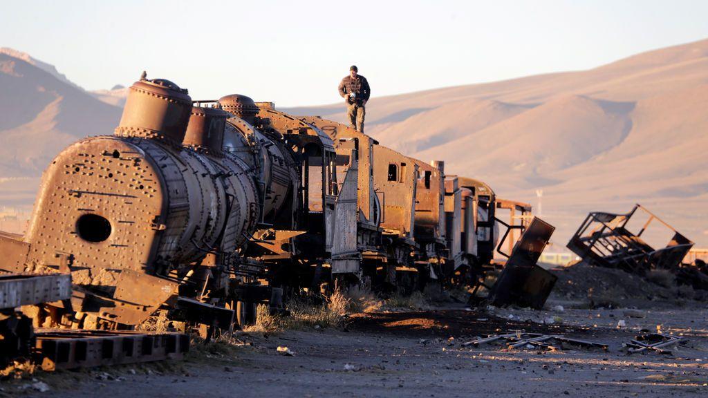 Desguace de trenes en Bolivia