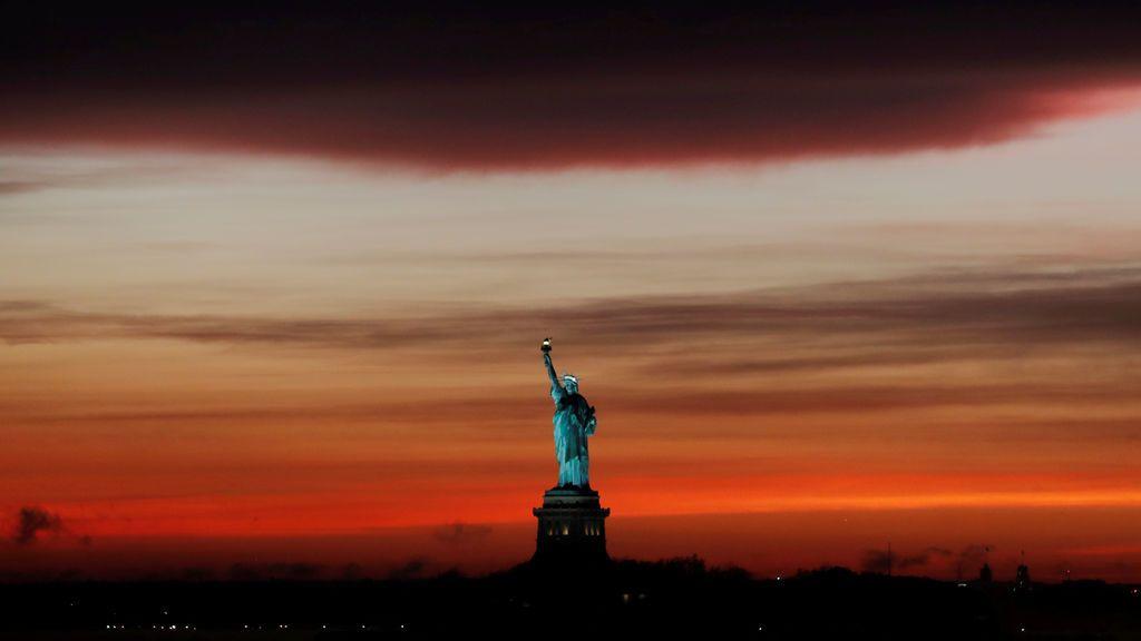 Atardecer rojo en Nueva York