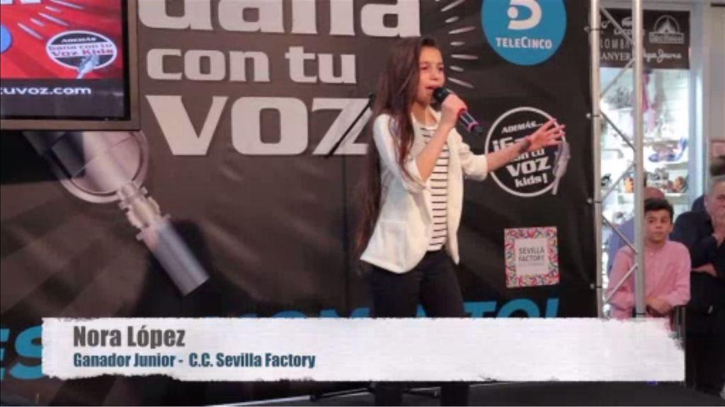 Nora López triunfa en Sevilla con su actuación junior