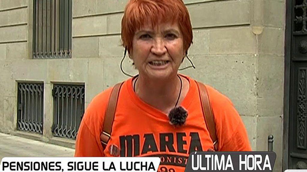 """Conchita Ribera ('Marea pensionistas'): """"No estamos de acuerdo con el parche que nos dan, queremos una reforma integral"""""""