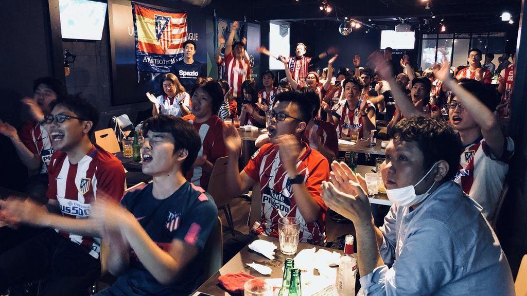 La euforia por la victoria del Atlético llegó hasta Japón: así se vivió el título de la Europa League