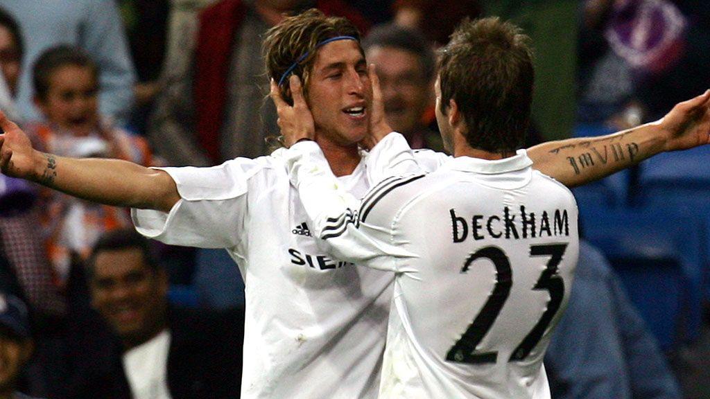 Ramos vs Beckham: La foto con más tatuajes por centímetro cuadrado