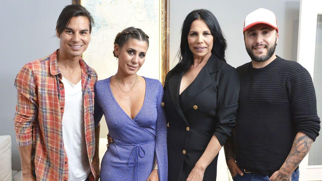 Julio José Iglesias, Elena Tablada, Toñi Salazar y Kiko Rivera.