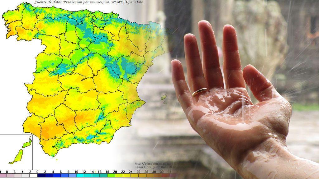 Llega el bochorno: tormentas y todo el país con más de 20ºC (llegando hasta los 28ºC)