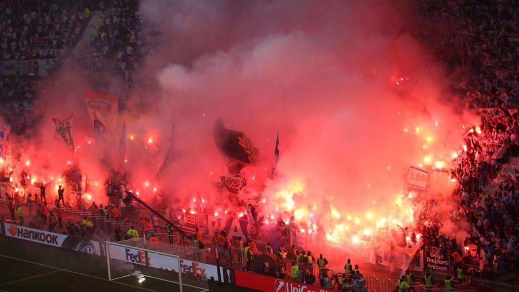 Los radicales del Marsella reaccionan a la derrota con incidentes y destrozos por las calles