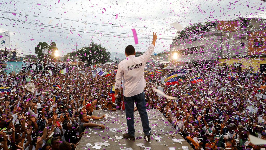 Mitin electoral en Venezuela