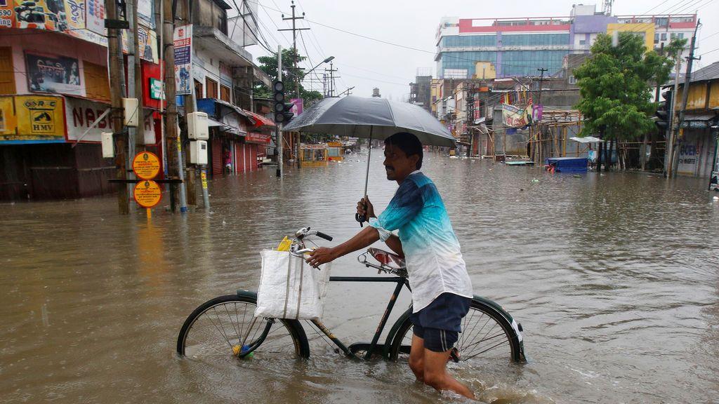 India inundada tras las fuertes lluvias