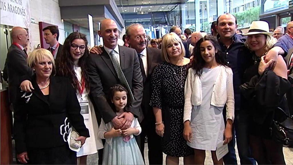 La celebración más emotiva de la familia de Luis Rubiales tras proclamarse presidente de la RFEF