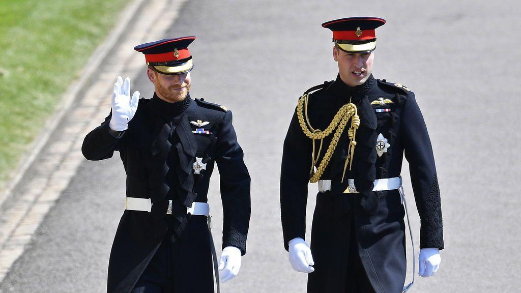 El príncipe Harry llega a su boda en Windsor