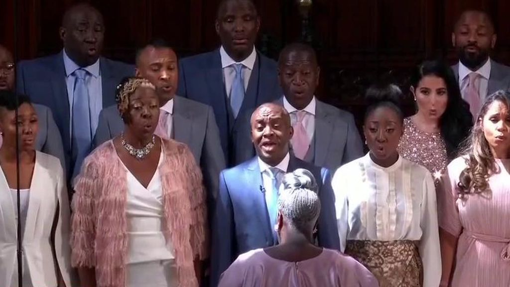 Un coro góspel cantó 'Stand by me' a petición expresa de los novios