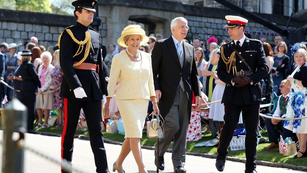 Sir John Major y su mujer, Norma
